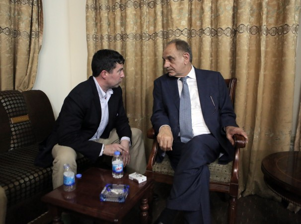 Mutlaq confers with Patten. Photo from Washington Post profile piece